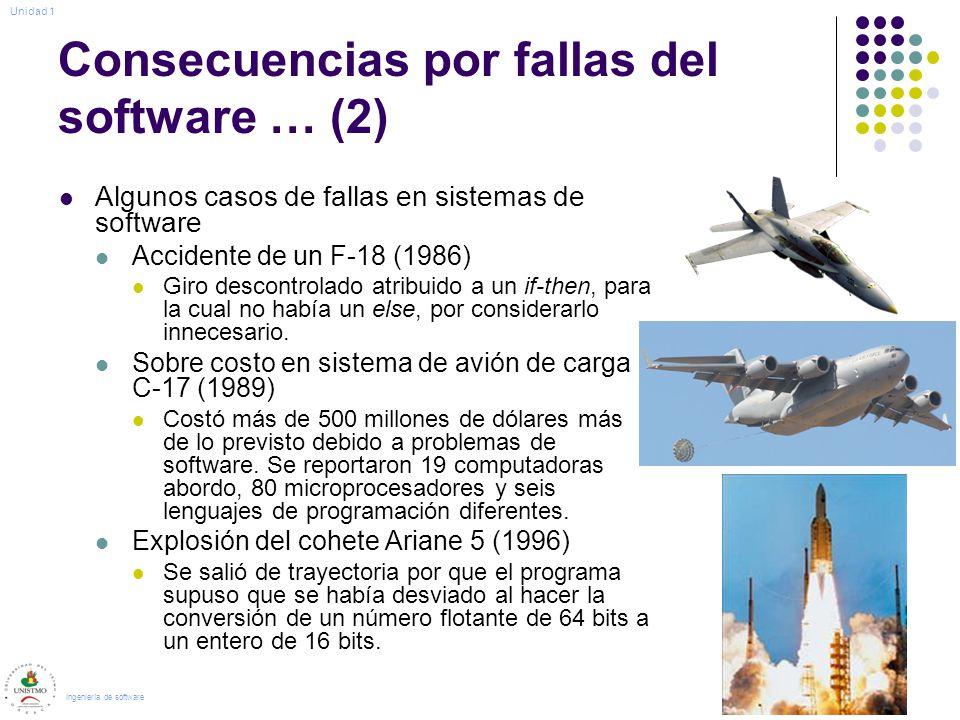 Consecuencias por fallas del software … (2)