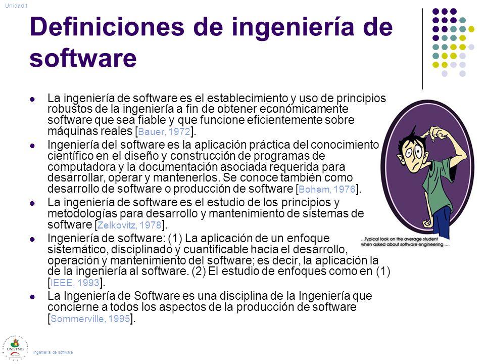 Definiciones de ingeniería de software