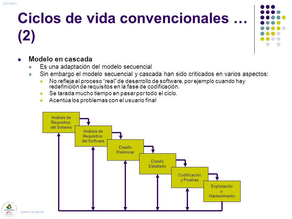 Ciclos de vida convencionales … (2)