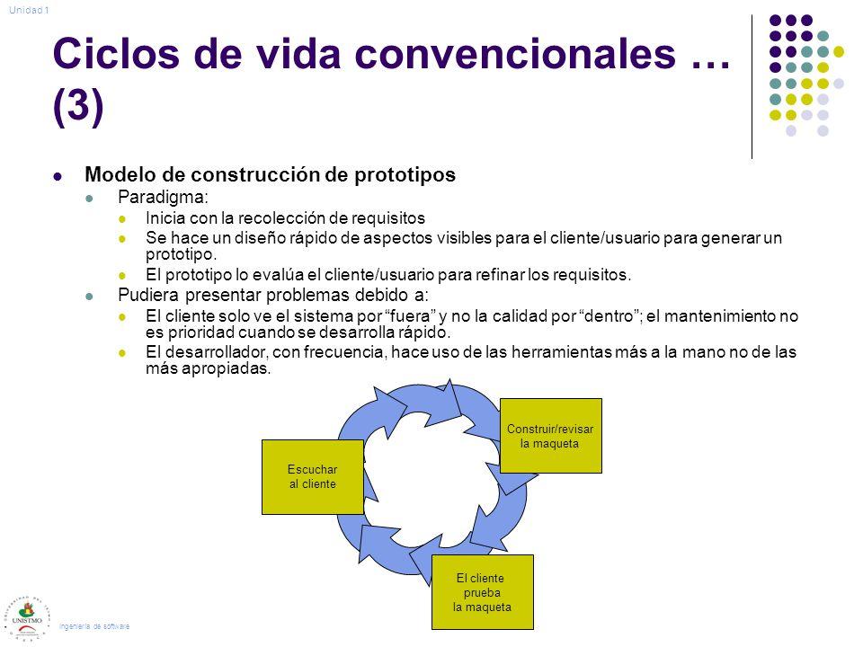 Ciclos de vida convencionales … (3)
