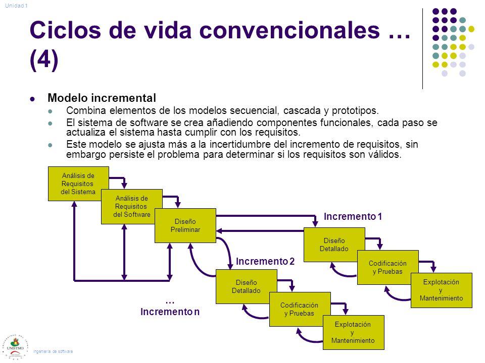 Ciclos de vida convencionales … (4)
