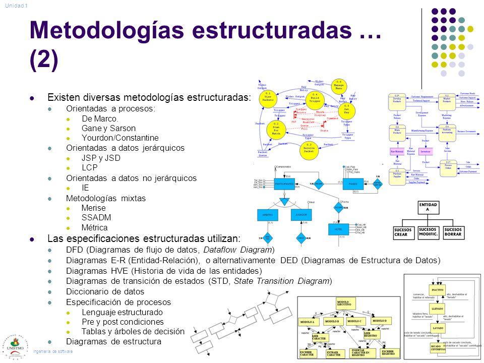Metodologías estructuradas … (2)