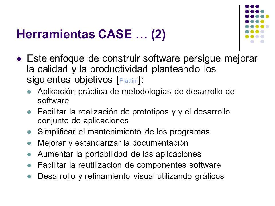 Herramientas CASE … (2)