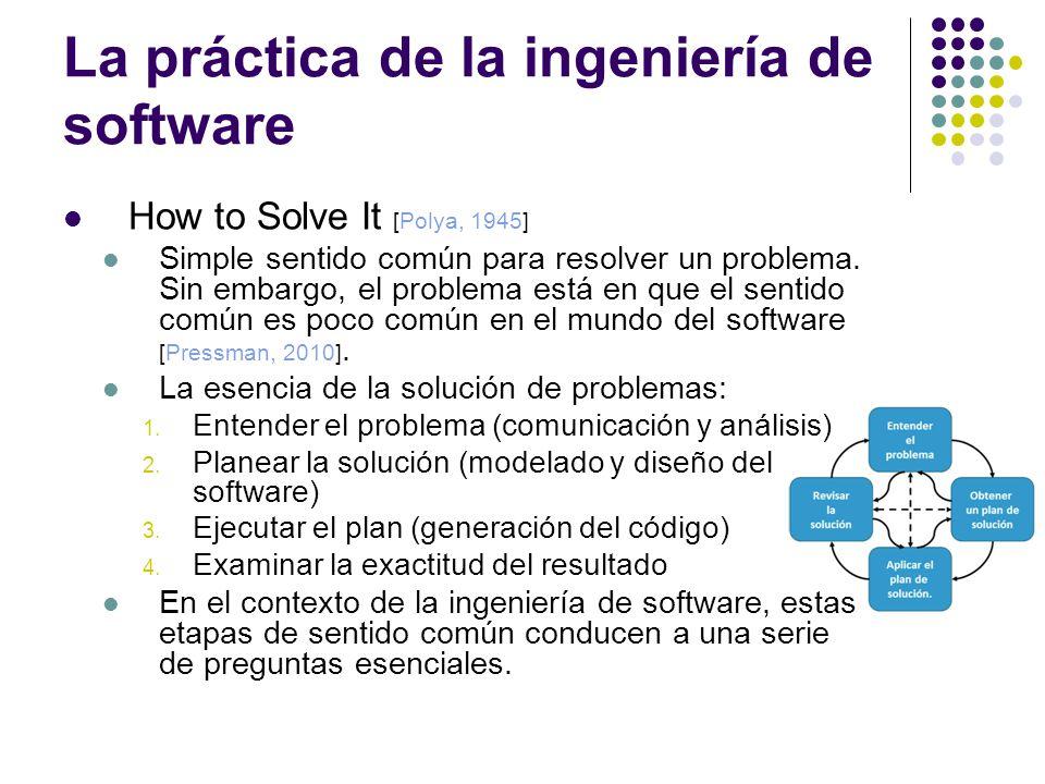 La práctica de la ingeniería de software