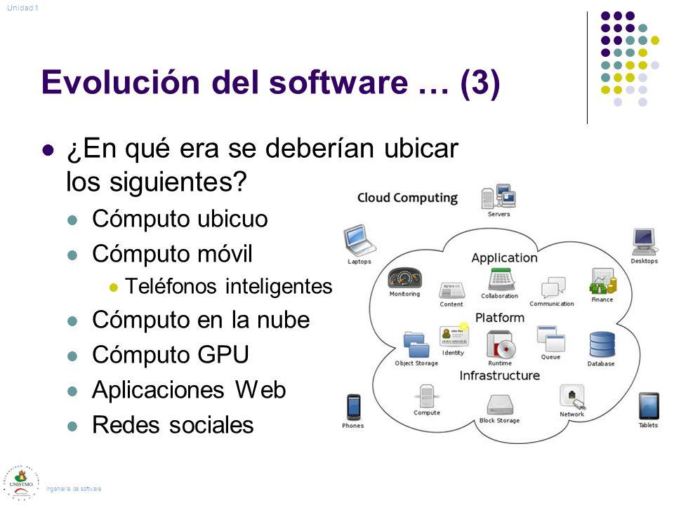 Evolución del software … (3)