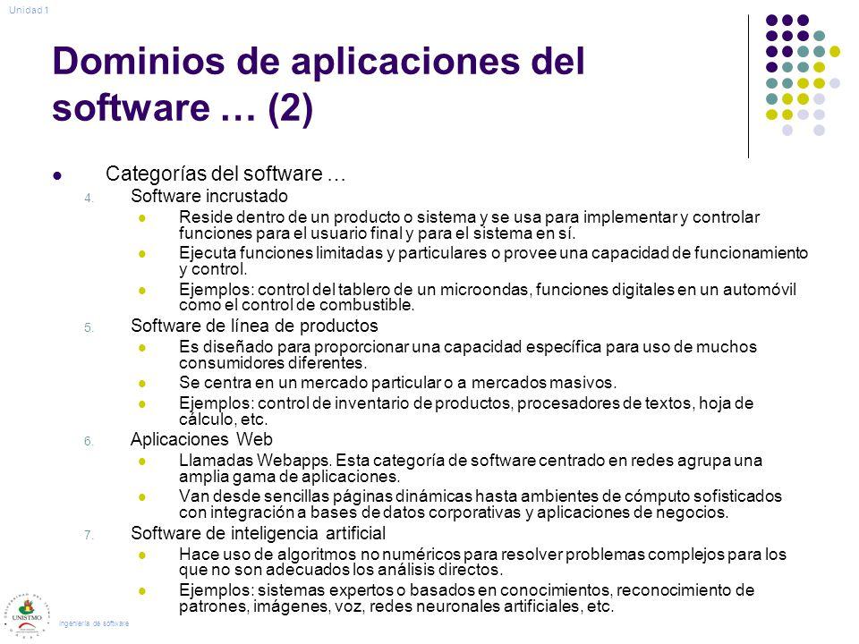 Dominios de aplicaciones del software … (2)