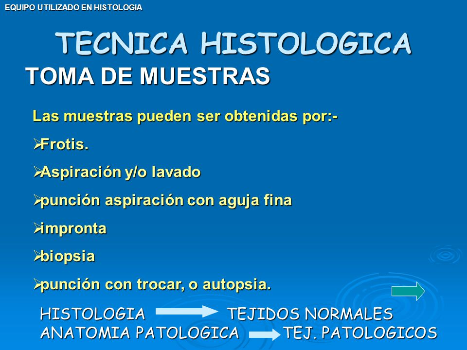 TECNICA HISTOLOGICA TOMA DE MUESTRAS