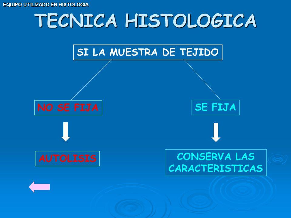 TECNICA HISTOLOGICA SI LA MUESTRA DE TEJIDO NO SE FIJA SE FIJA