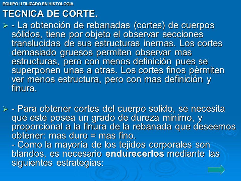 TECNICA DE CORTE.