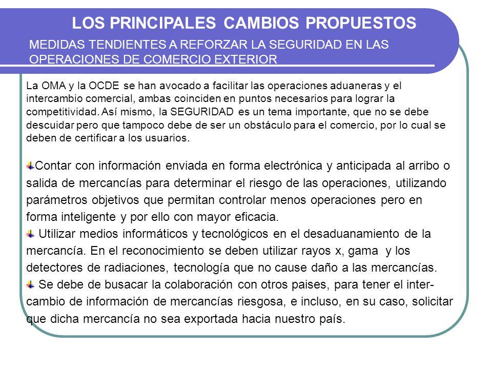 LOS PRINCIPALES CAMBIOS PROPUESTOS