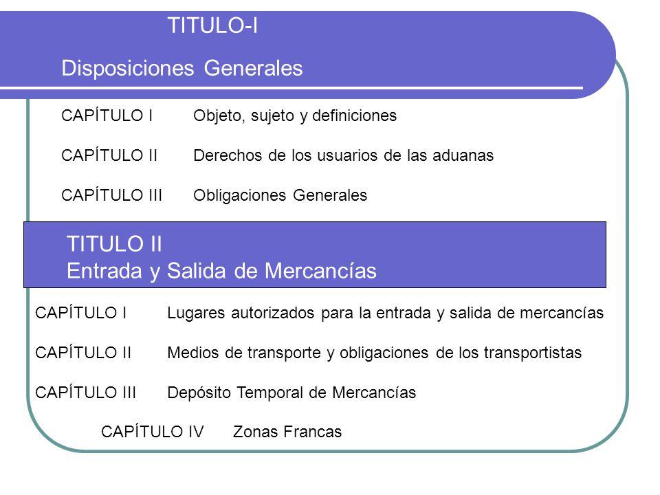 TITULO-I Disposiciones Generales