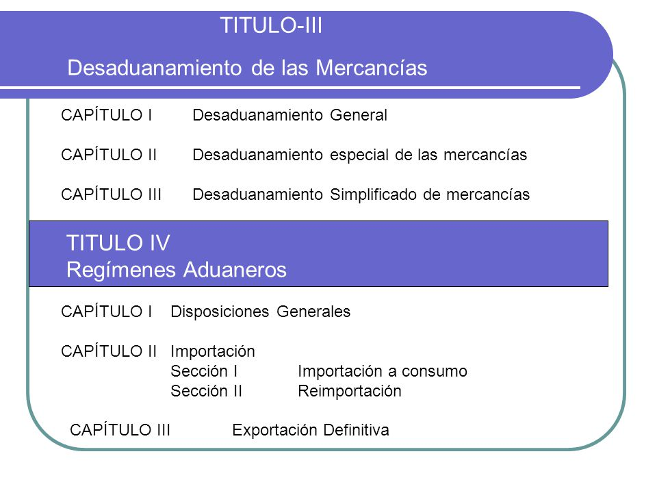 TITULO-III Desaduanamiento de las Mercancías