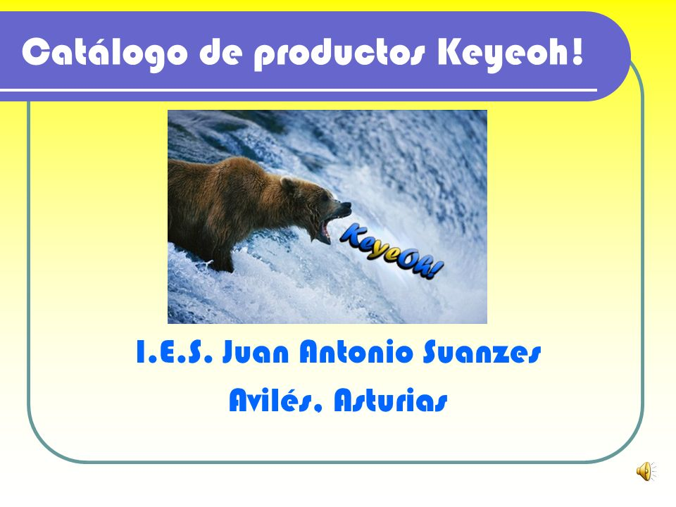 Catálogo de productos Keyeoh!