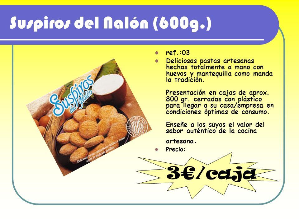 Suspiros del Nalón (600g.) 3€/caja ref.:03