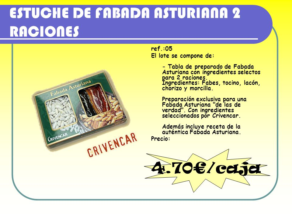 ESTUCHE DE FABADA ASTURIANA 2 RACIONES