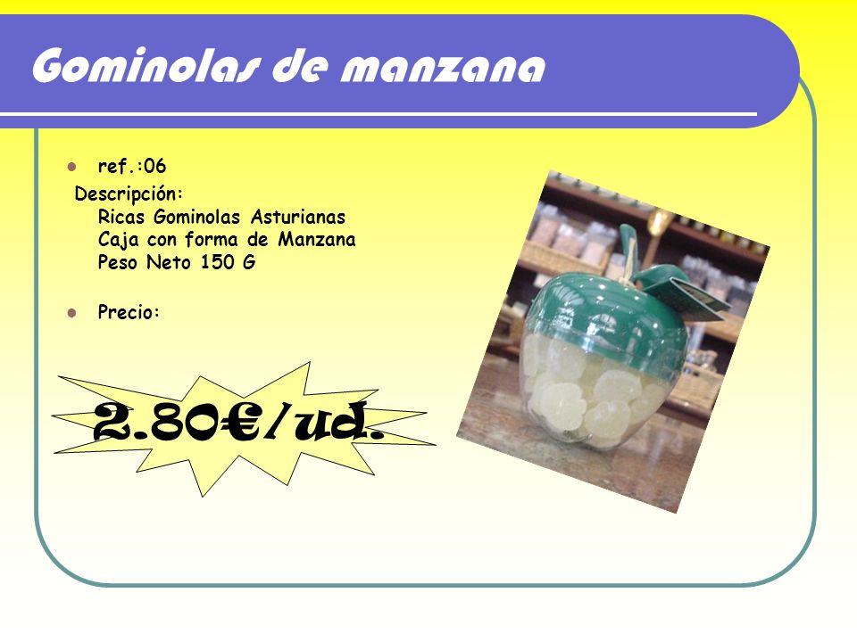Gominolas de manzana 2.80€/ud. ref.:06