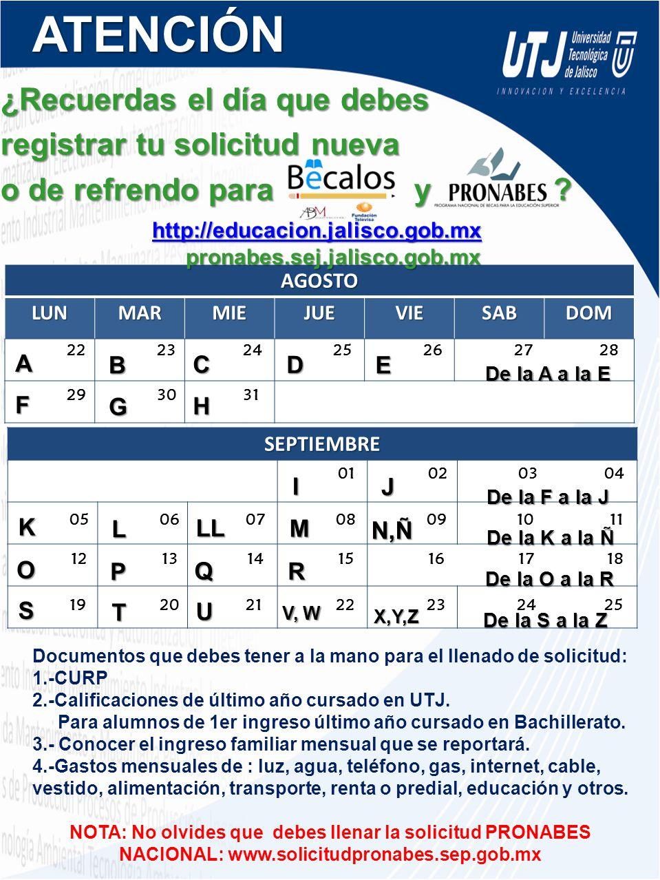 http://educacion.jalisco.gob.mx pronabes.sej.jalisco.gob.mx