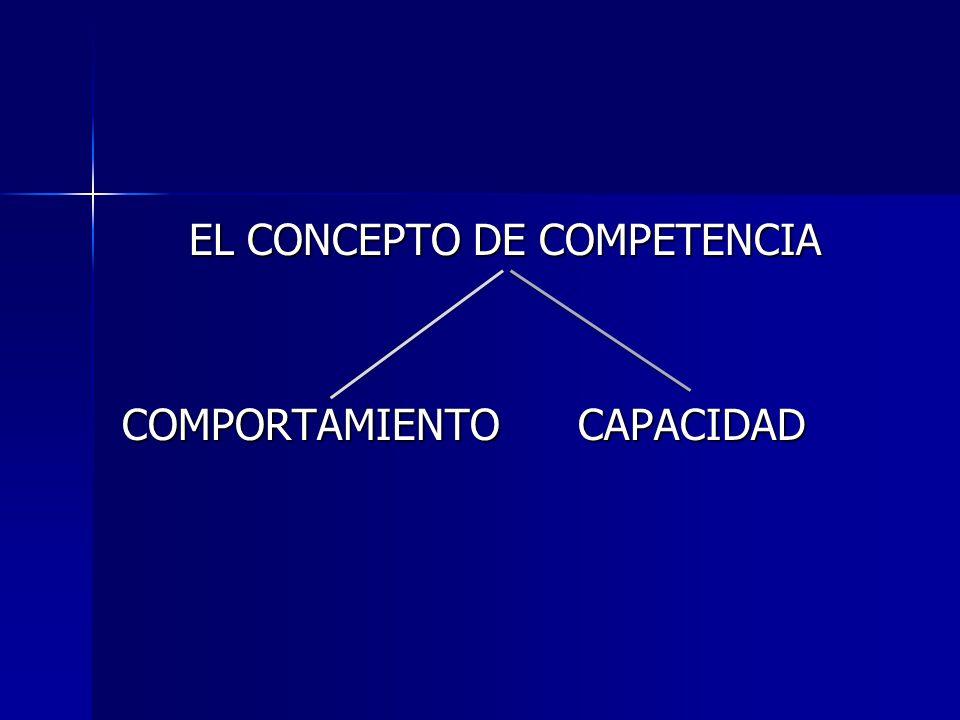 EL CONCEPTO DE COMPETENCIA