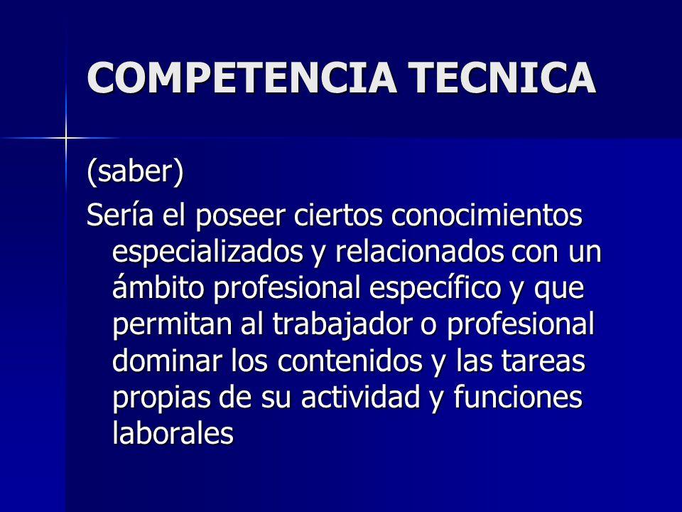 COMPETENCIA TECNICA
