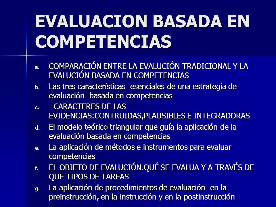 EVALUACION BASADA EN COMPETENCIAS