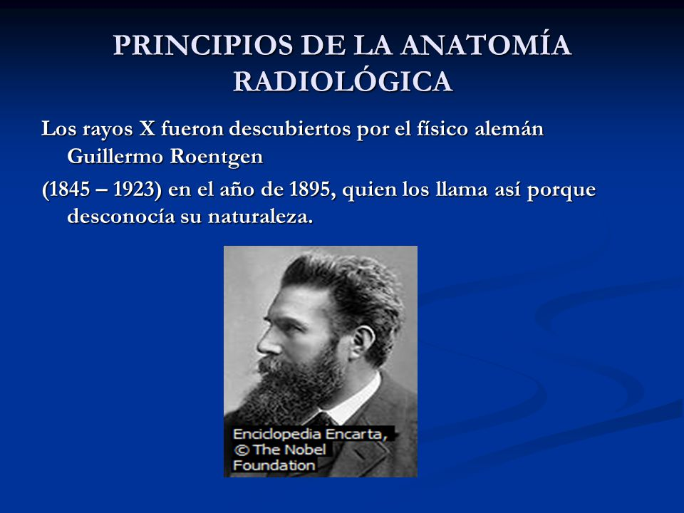 PRINCIPIOS DE LA ANATOMÍA RADIOLÓGICA