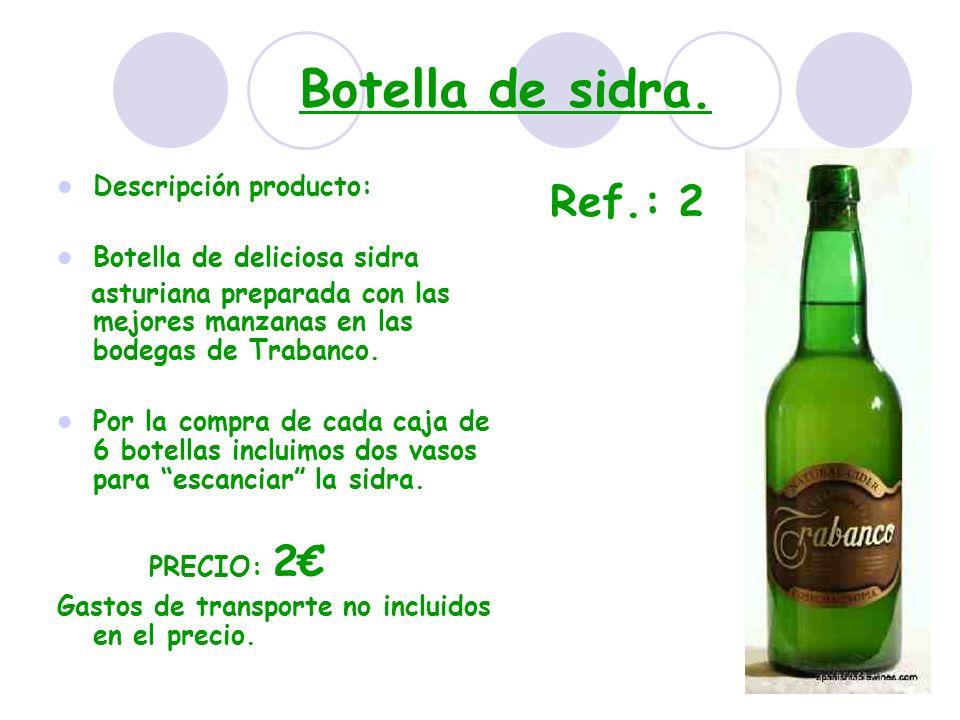 Botella de sidra. Ref.: 2 Descripción producto: