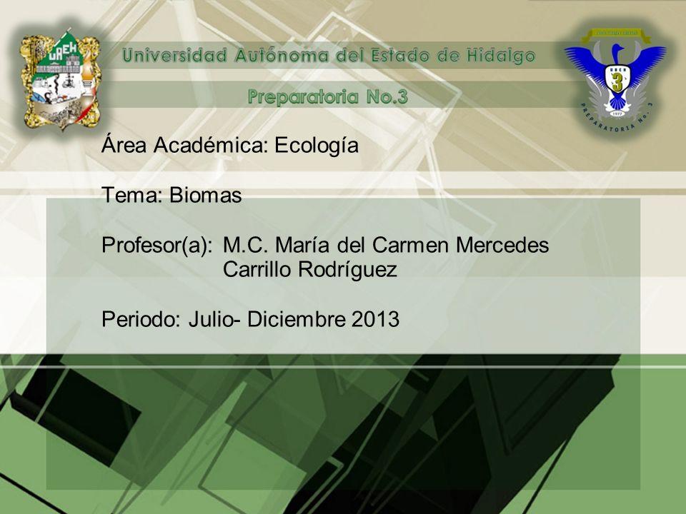 Área Académica: Ecología