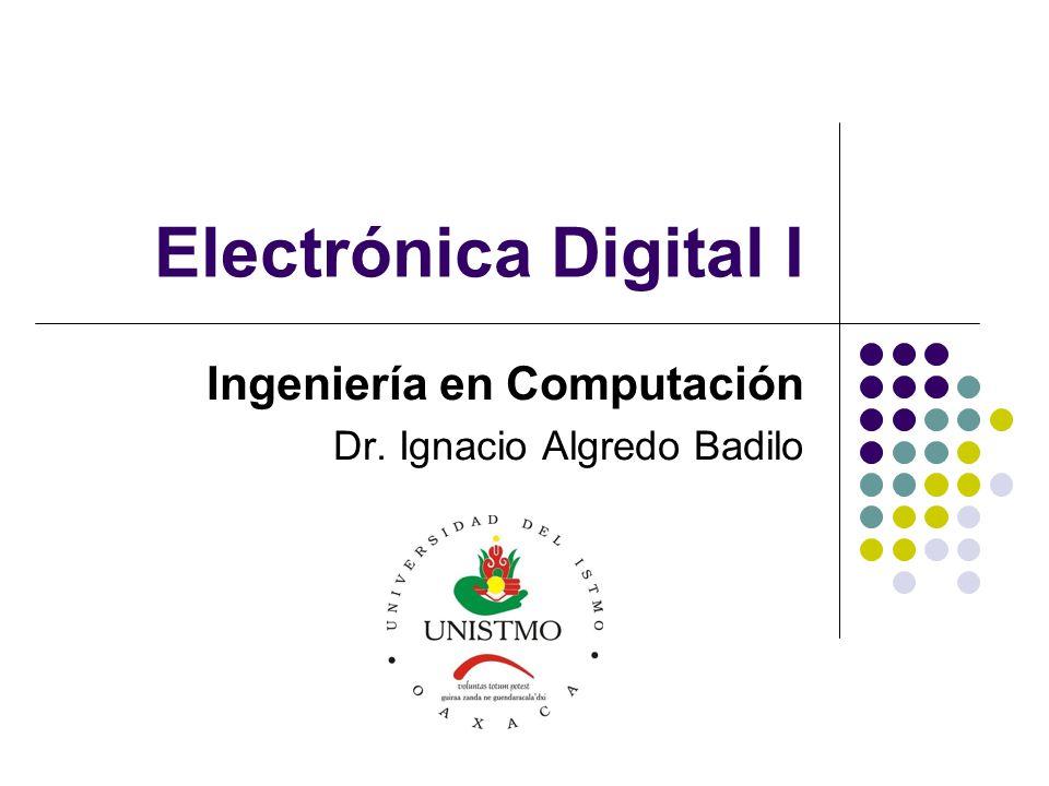 Ingeniería en Computación Dr. Ignacio Algredo Badilo
