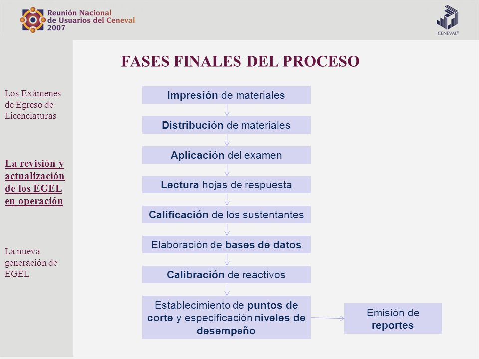 FASES FINALES DEL PROCESO