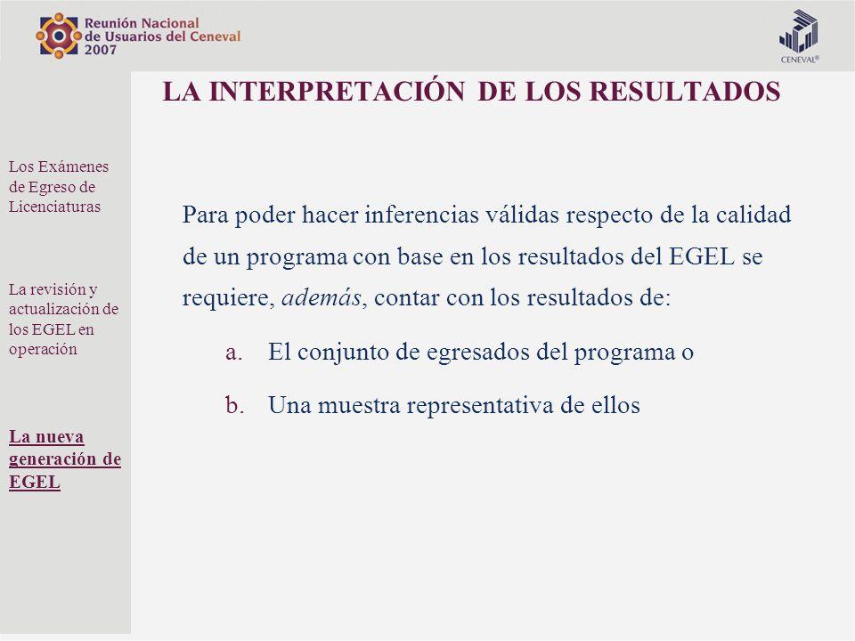 LA INTERPRETACIÓN DE LOS RESULTADOS