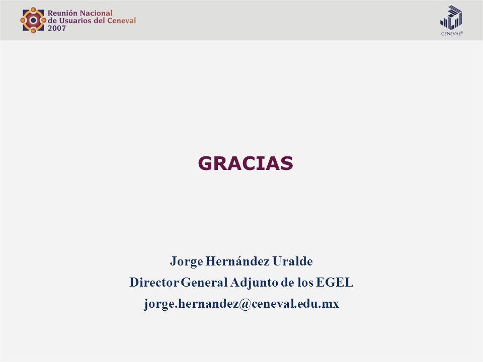 Jorge Hernández Uralde Director General Adjunto de los EGEL