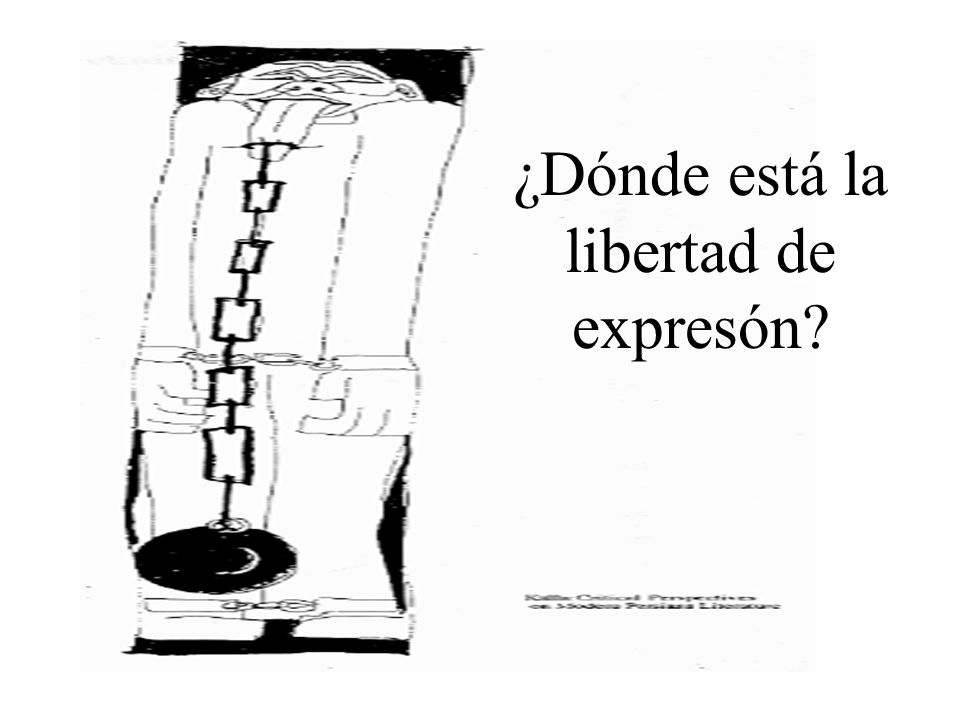 ¿Dónde está la libertad de expresón