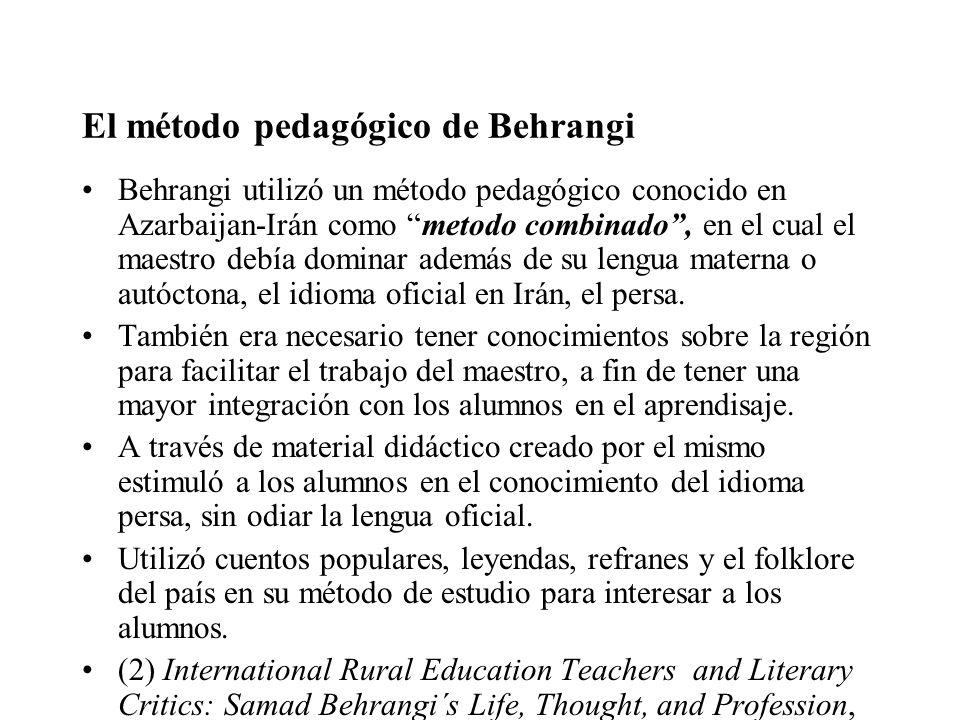 El método pedagógico de Behrangi