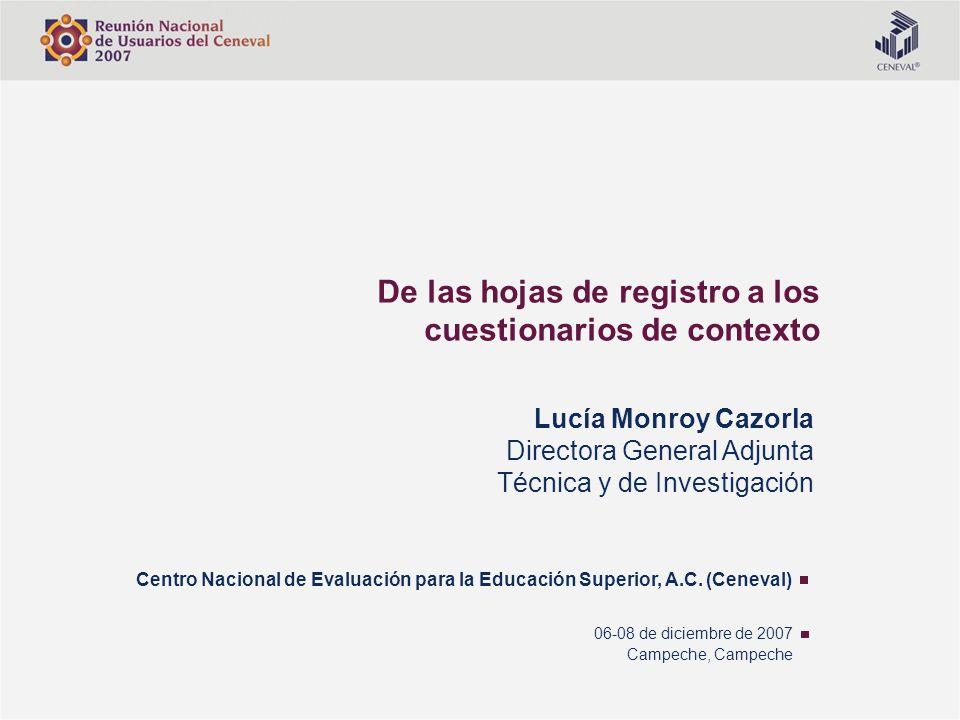 De las hojas de registro a los cuestionarios de contexto
