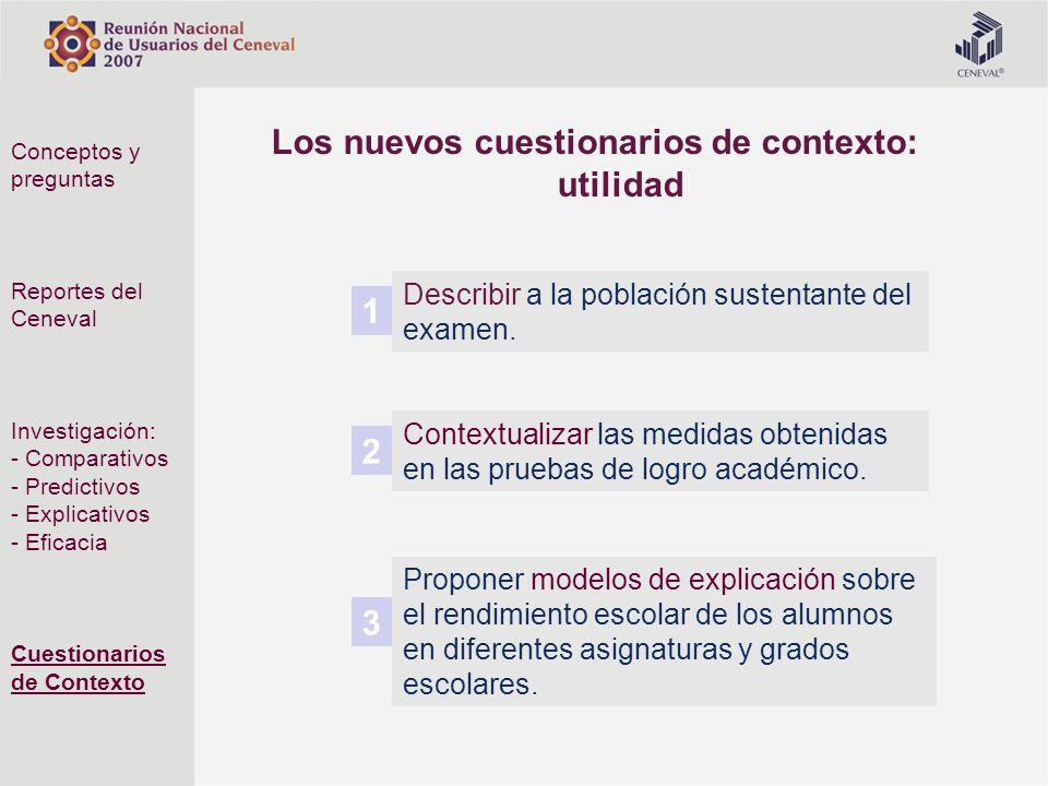 Los nuevos cuestionarios de contexto: utilidad