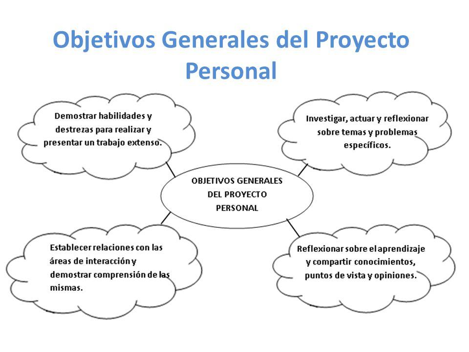 Objetivos Generales del Proyecto Personal