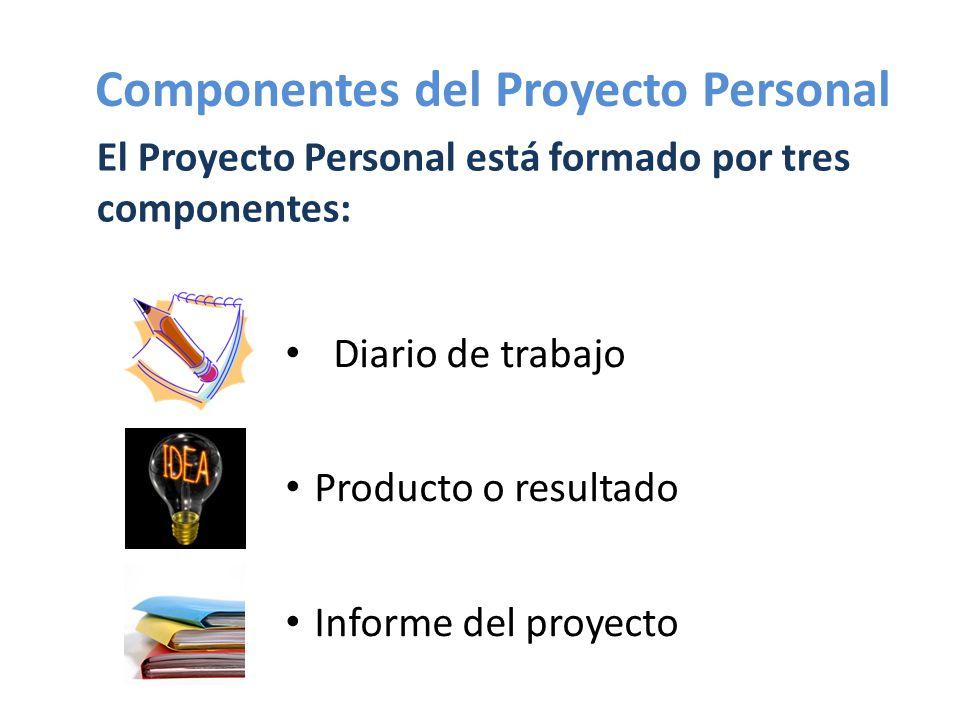 Componentes del Proyecto Personal