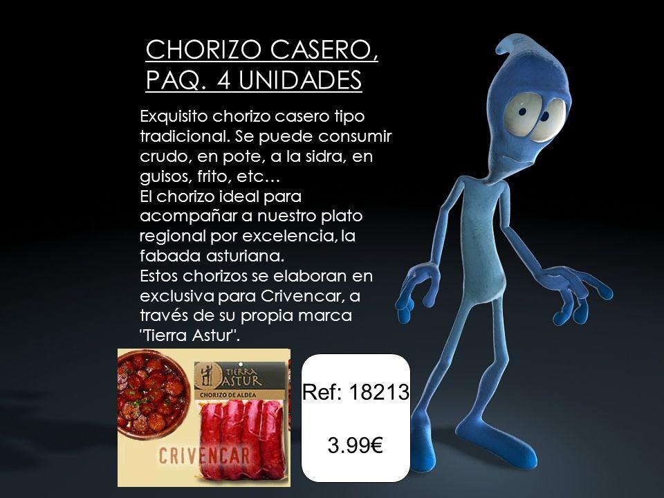 CHORIZO CASERO, PAQ. 4 UNIDADES