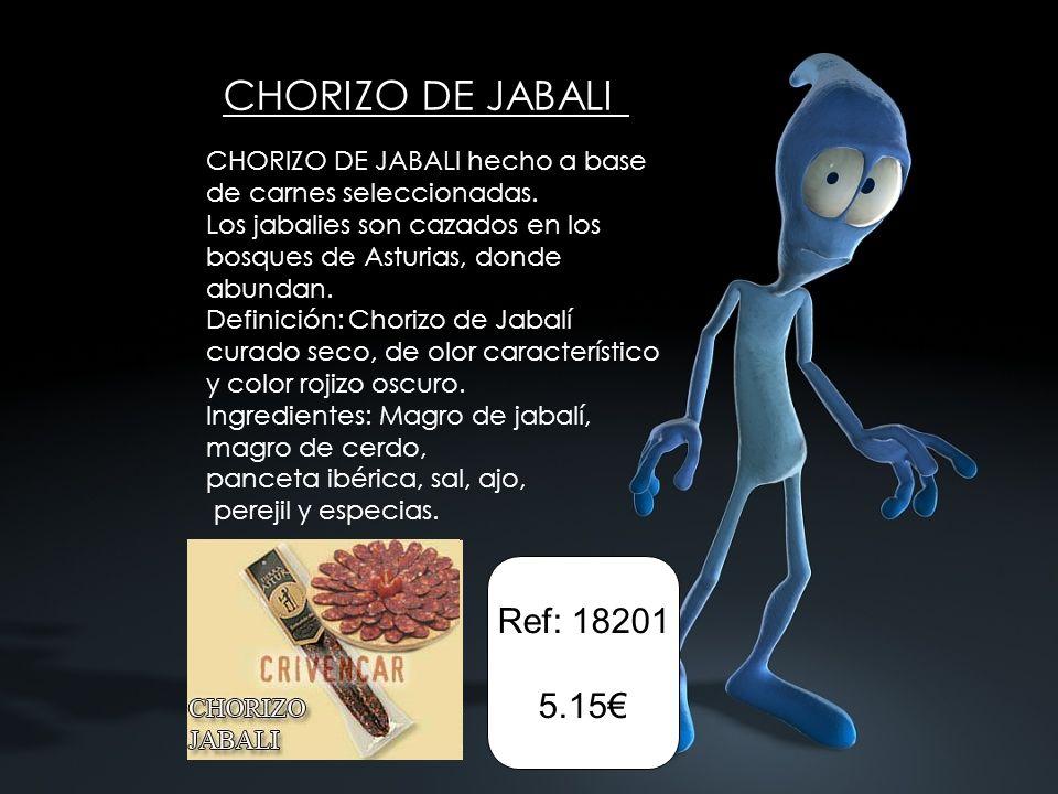 CHORIZO DE JABALI Ref: 18201 5.15€