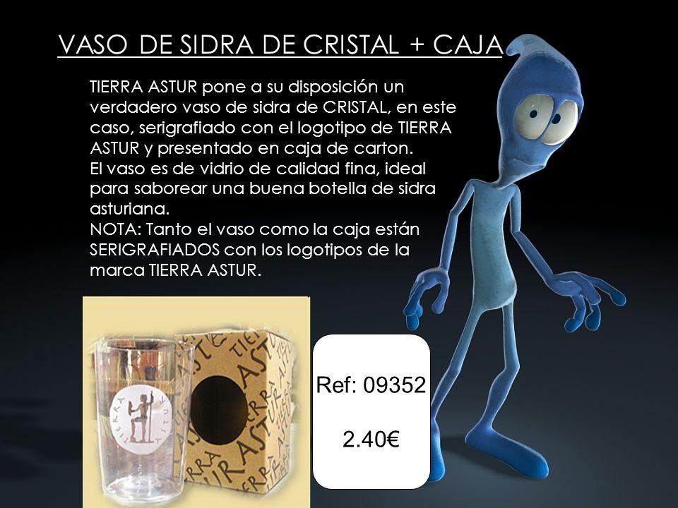 VASO DE SIDRA DE CRISTAL + CAJA