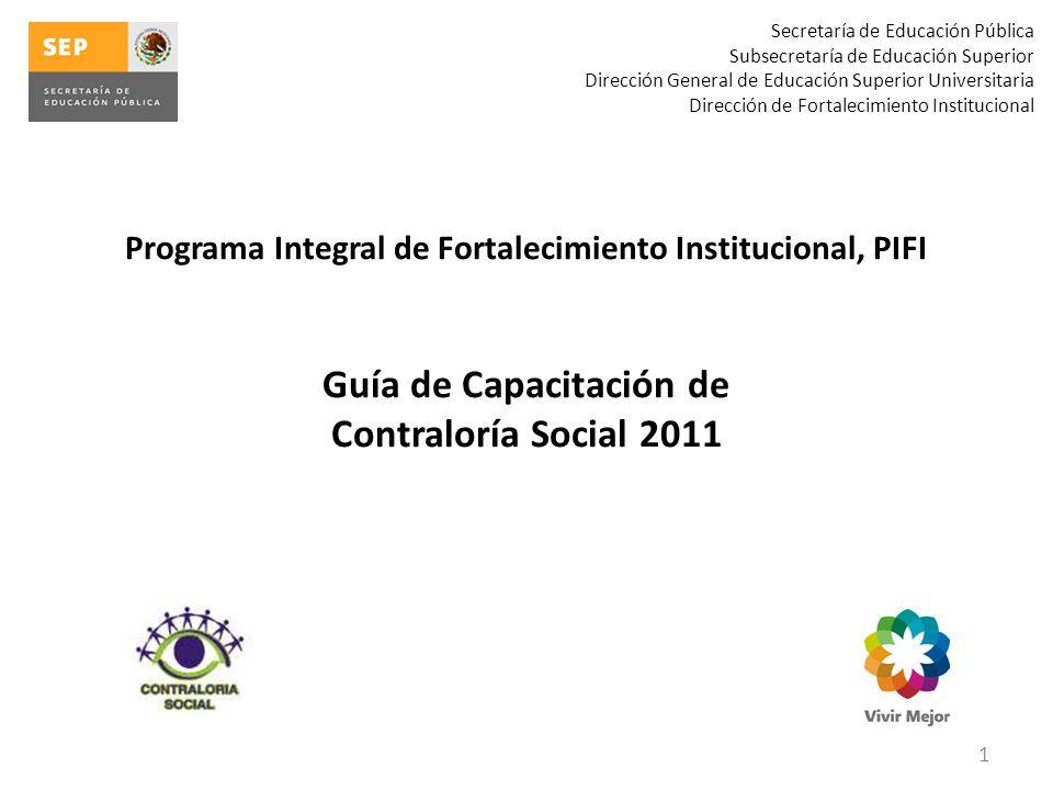 Guía de Capacitación de Contraloría Social 2011