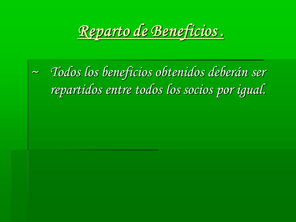Reparto de Beneficios .