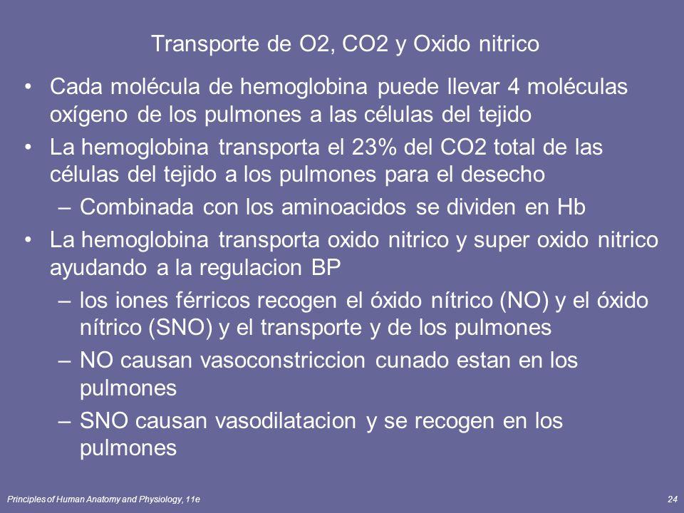 Transporte de O2, CO2 y Oxido nitrico