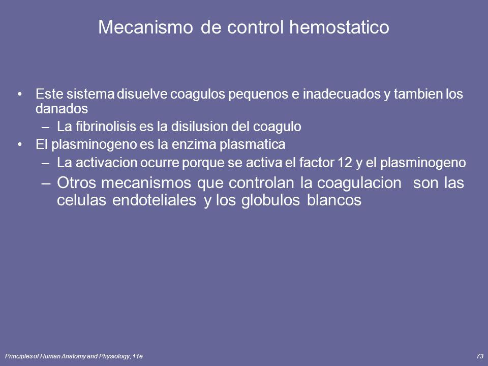 Mecanismo de control hemostatico