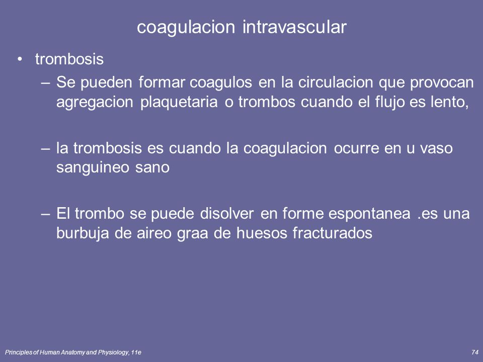 coagulacion intravascular
