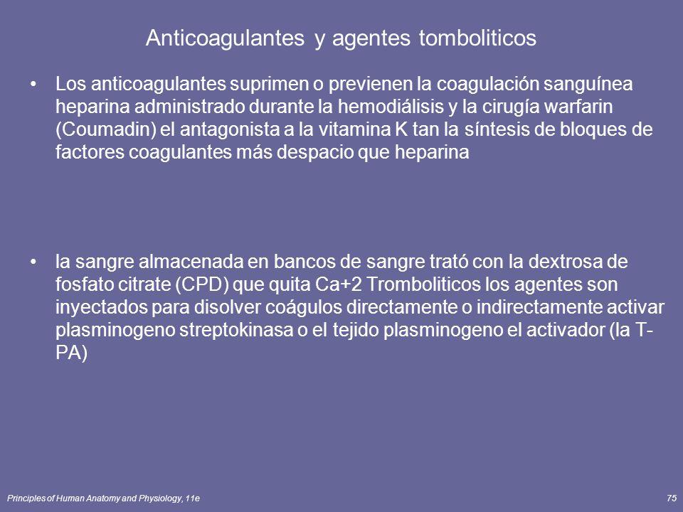 Anticoagulantes y agentes tomboliticos