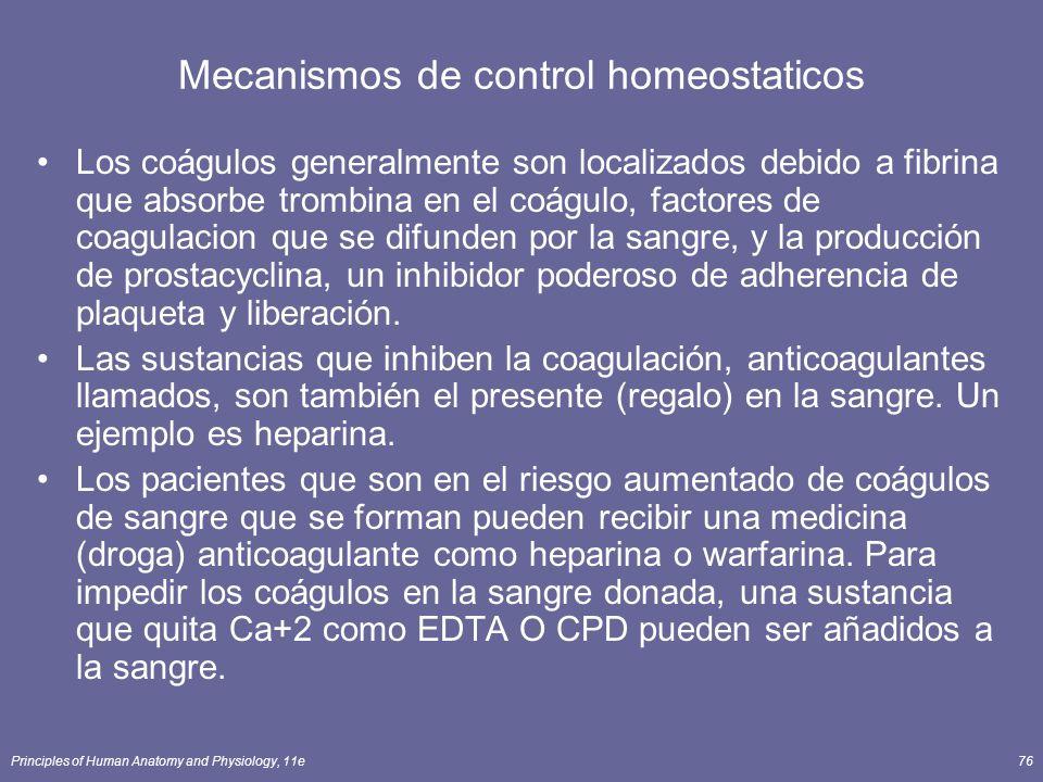 Mecanismos de control homeostaticos