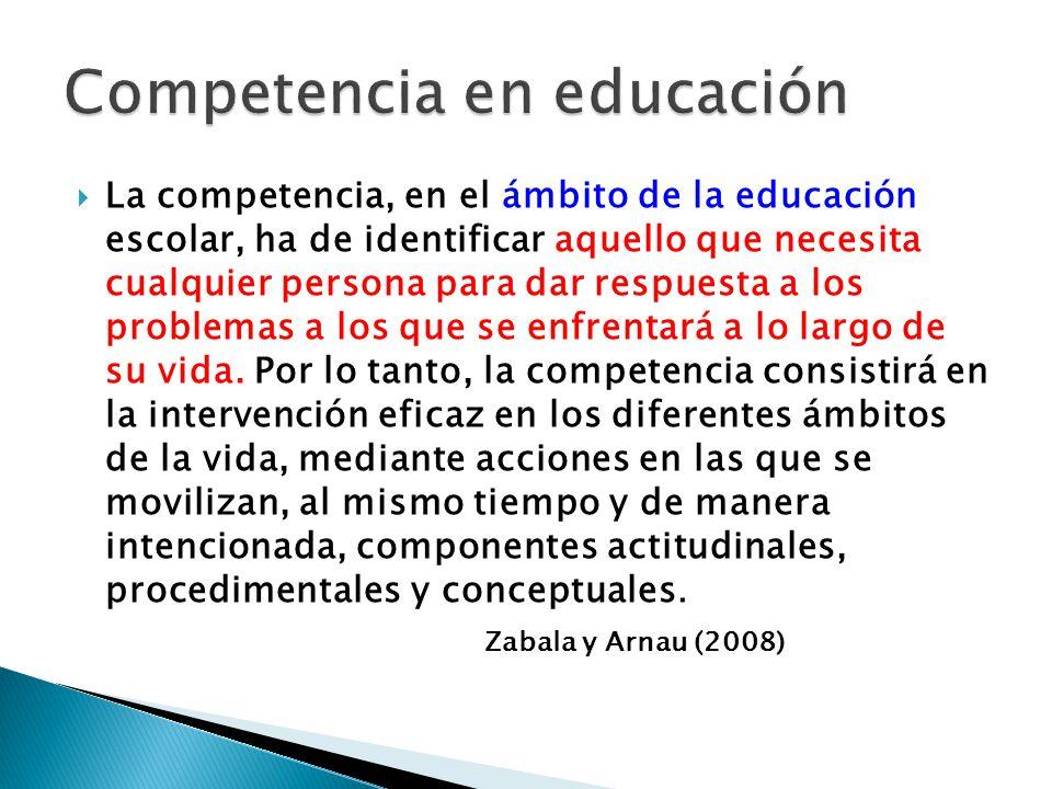 Competencia en educación