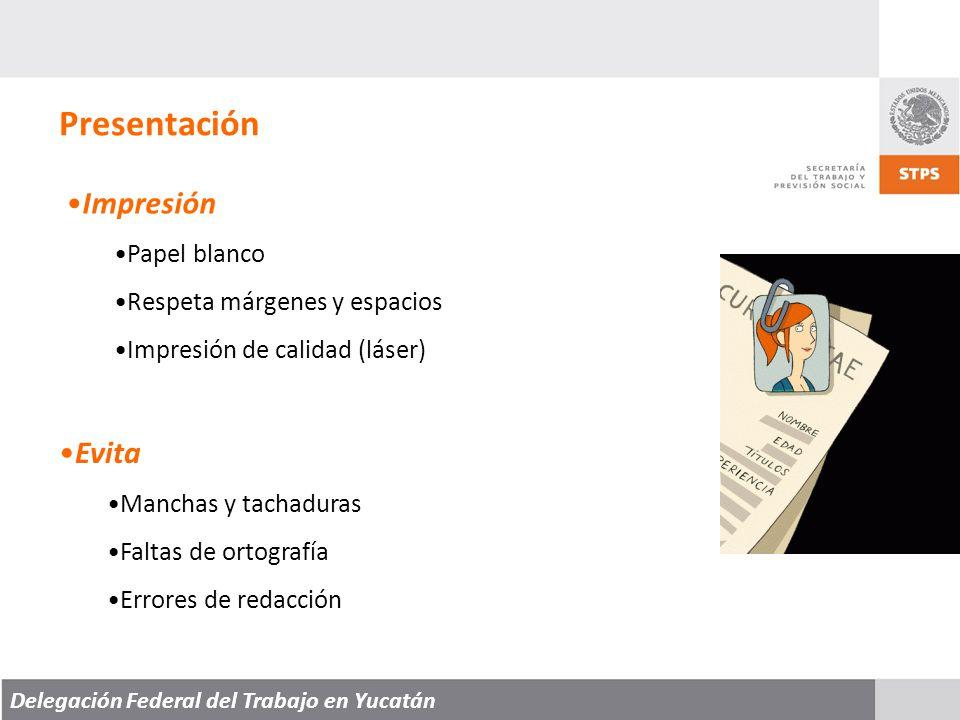 Presentación Impresión Evita Papel blanco Respeta márgenes y espacios