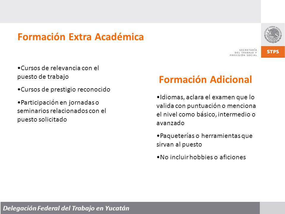 Formación Extra Académica